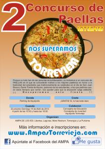 Cartel II Concurso de Paellas Inter-IES