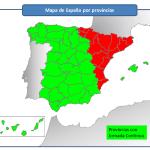 Mapa de España con Jornada Continua
