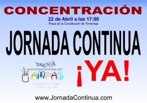 Concentración el 22 de abril a las 17:00 en la Plaza de la Constitución