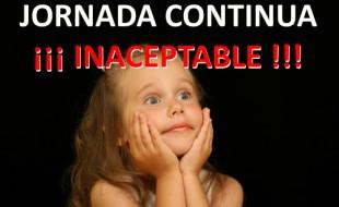 Jornada Continua Inaceptable